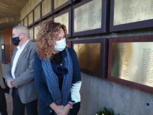 La Consellera de Justícia Ester Capella i el Delegat de la Generalitat a les Terres de l'Ebre Francesc Pallarès