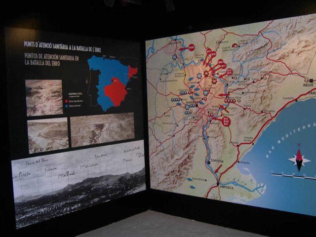 Mapa punts atenció sanitària Batalla Ebre